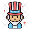 Th Of July Lineal Color Icons Icon