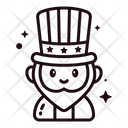Th Of July Lineal Icons Icon