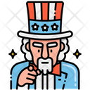 Uncle Sam Hat Uncle Sam Sam Hat Icon