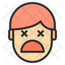 Unconcius Sad Emotion Face Icon