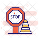 Under Construction Stop Sign Icon