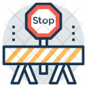 Construction Barrier Banner Icon