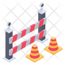 Under Construction Barrier Barricade Construction Banner Icon