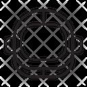 Helmet Protection Under Water Helmet Icon