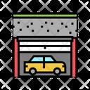 Underground Car Parking Car Building Icon