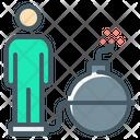 Addiction Bomb Person Icon