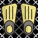 Fins Underwater Sport Icon
