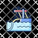 Underwater Pipeline Installation Icon