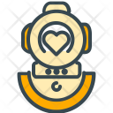 Diving Underwater Dress Icon