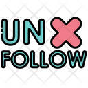 Unfollow Unfriend Unsubscribe Icon