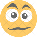 Unhappy Surprised Emoticon Icon
