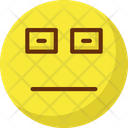 Unhappy Sad Face With Glasses Emoticons Icon