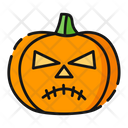 Unhappy Pumpkin Halloween Icon