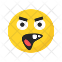 Unhappy Angry Frustrated Icon