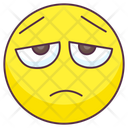 Unhappy Emoji Unhappy Expression Emotag Icon