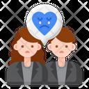 Unhappy Relationship Icon