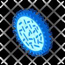 Unhealthy Bacteria Isometric Icon