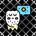 Unhealthy Tooth Color Icon