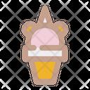 Unicorn Ice Cream Icon