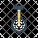 Unicycle Circus Wheel Icon