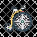 Unicycle Circus Bike Icon