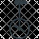 Unicycle Transportation Retro Icon