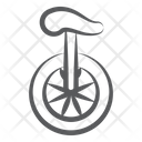 Unicycle Circus Cycle Transportation Icon