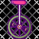 Unicycle Mono Cycle One Wheel Cycle Icon