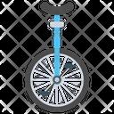 Unicycle Circus Element Wheel Bike Icon