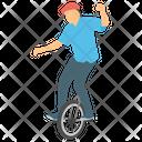 Unicyclist Unicycle Tricks Unicycle Rider Icon