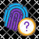 Unidentified Fingerprint Icon
