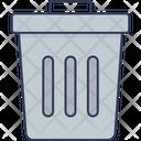 Uninstall Garbage Bin Delete Icon