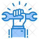 Union Wrench Hand Icon