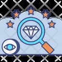 Unique Search Unique Diamond Icon
