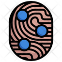 Unique Points Scan Finger Scan Icon