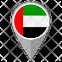 United Emirates Arab Country Location Location Icon