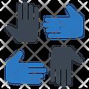 Teamwork Together Unity Icon