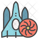 Universal Shipping Spaceship Icon