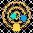 Solar System Galaxy Space Icon