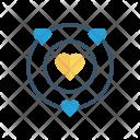 Heart Universe Planet Icon