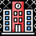 Condominium Residential Building Arcade Icon