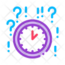 Clock Question Time Icon