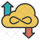 Unlimited Cloud Storage Icon
