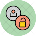 Unlock User Employee Icon