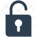 Unlock Padlock Safety Icon