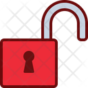 Unlock Lock Safety Icon