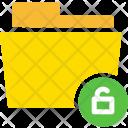 Unlock Folder Computer Icon