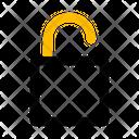 Unlock Security Access Icon