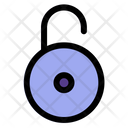 Open Padlock Locked Icon