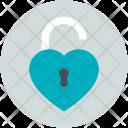 Unlock Padlock Love Icon